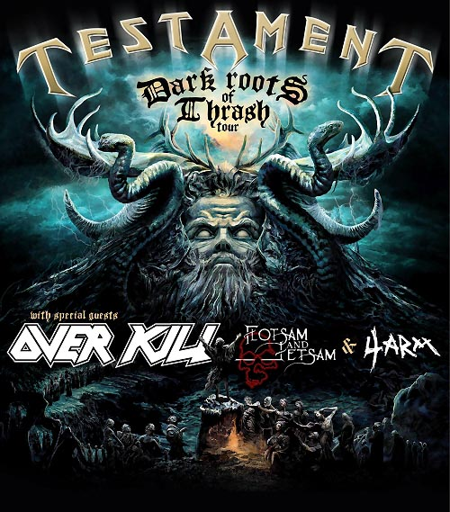 Testament Overkill Tour