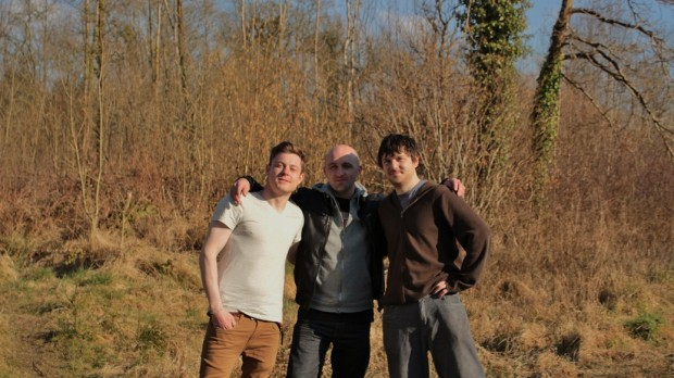Left to Right -  Actor Daniel Mahony, Directer Anthony White, Actor Stephen Cromwell
