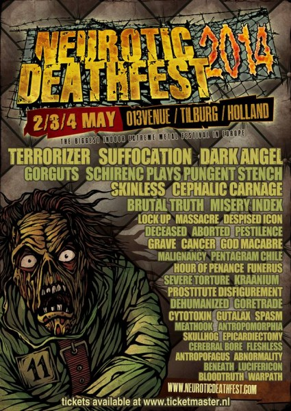 Neurotic Deathfest poster