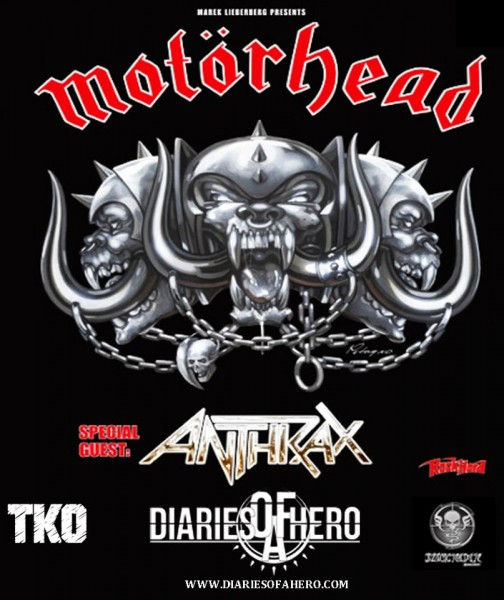 Diaries of a hero poster for motorhead