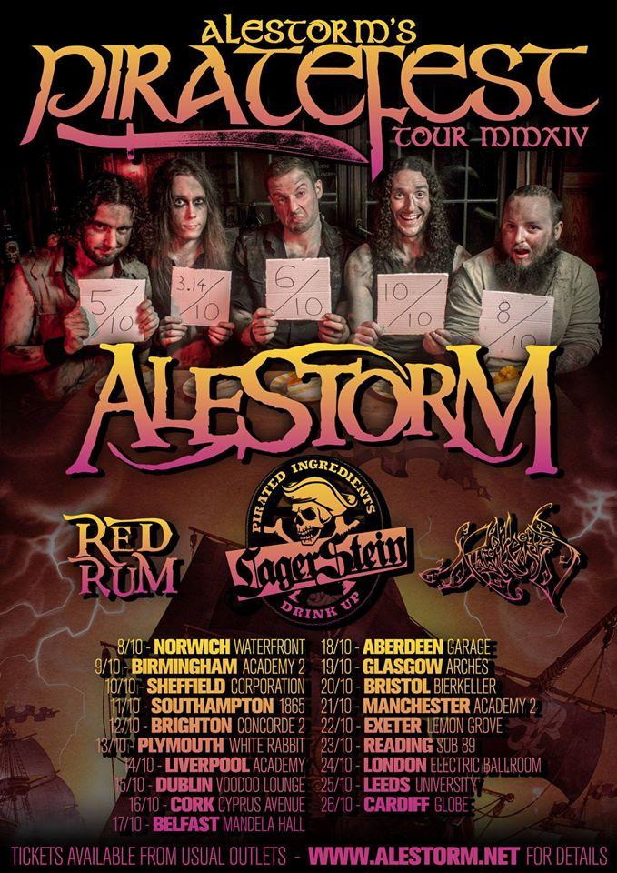 Alestorm tour poster