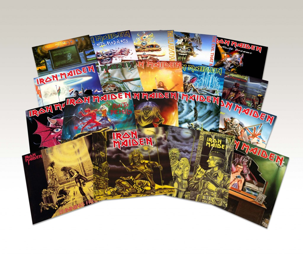 Iron Maiden 45s productshot