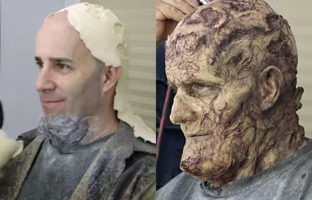 Fight em' till you Can't - Scott Ian gets made up like a zombie for Walking Dead.