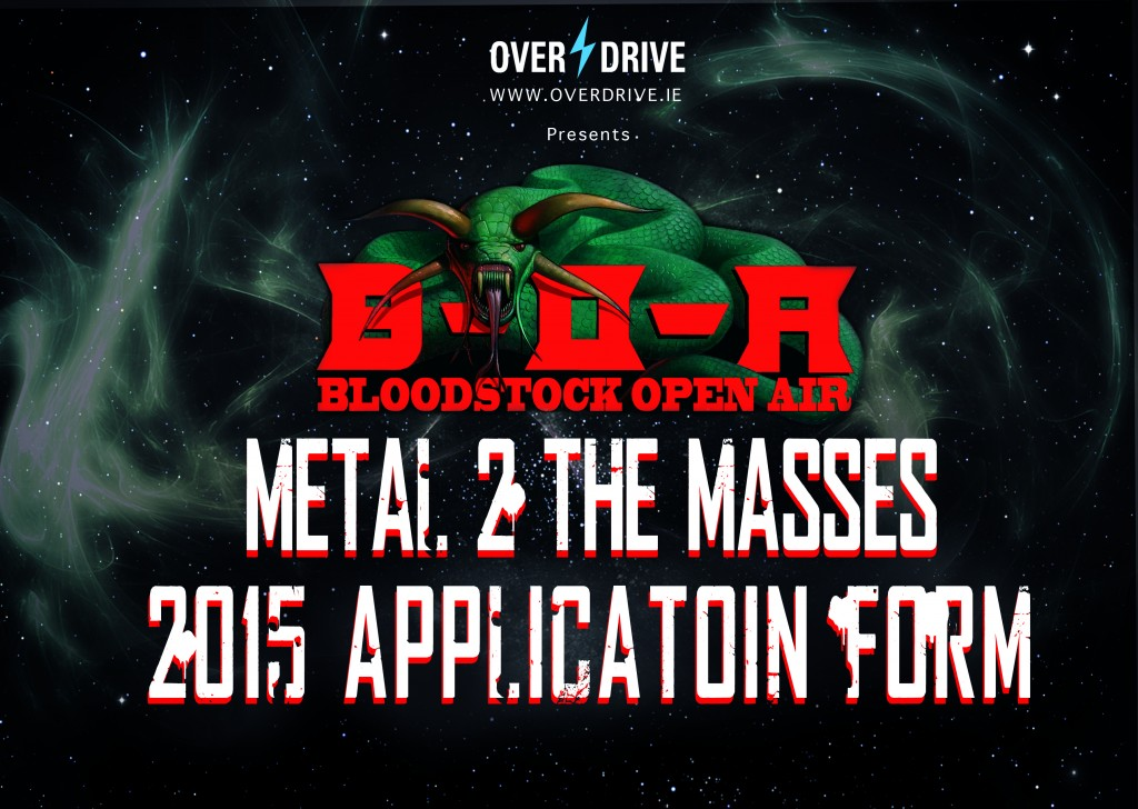 BOA metal 2 The masses application form graphic 2015