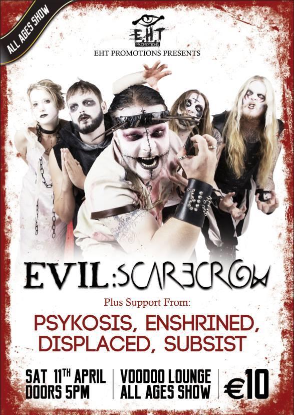 Evil Scarecrow Dublin poster