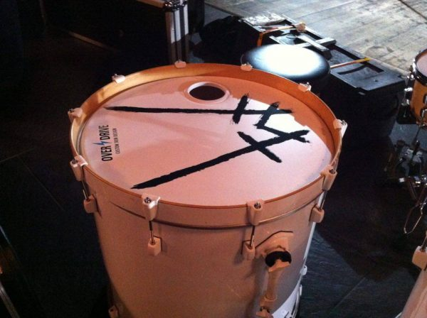 "Custom matte finish for 22"" bass drum used by WOUNDS."
