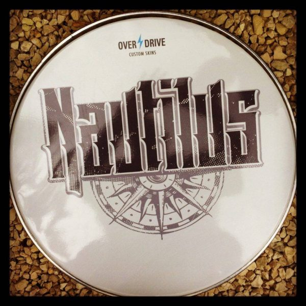 "Custom 22"" Nautilus drum skin with gloss finish by Overdrive."