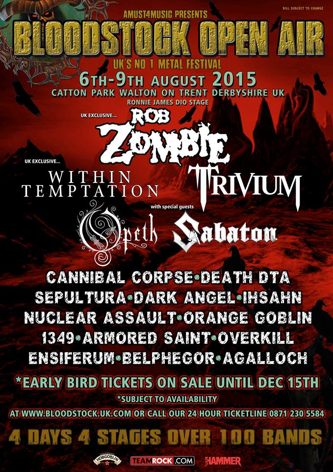What a fucking line up!  - Bloodstock 2015