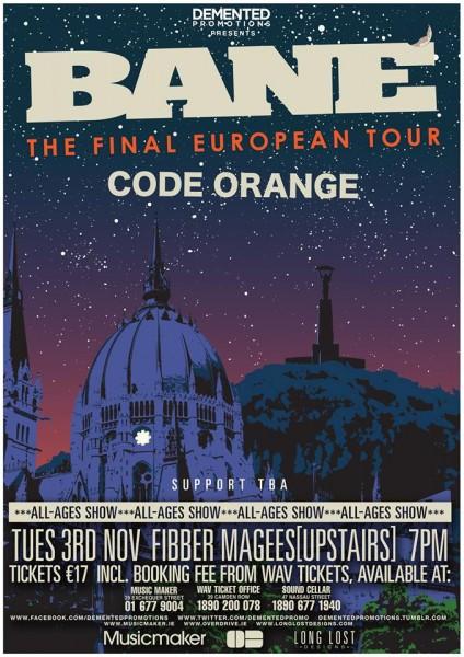 bane tour poster