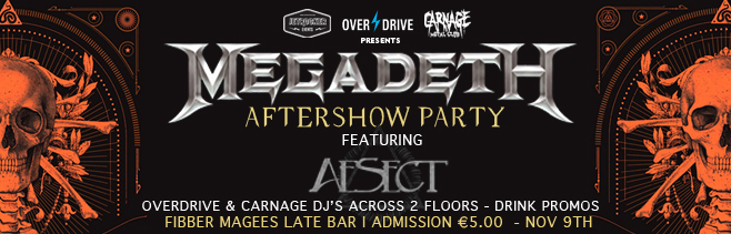 MEGADETH AFTERSHOW SOCIAL MEDIA