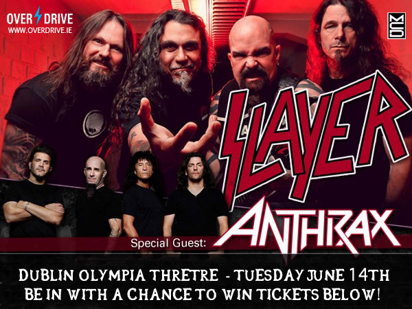 SLAYER ANTHRAX OVERDRIVE BANNER