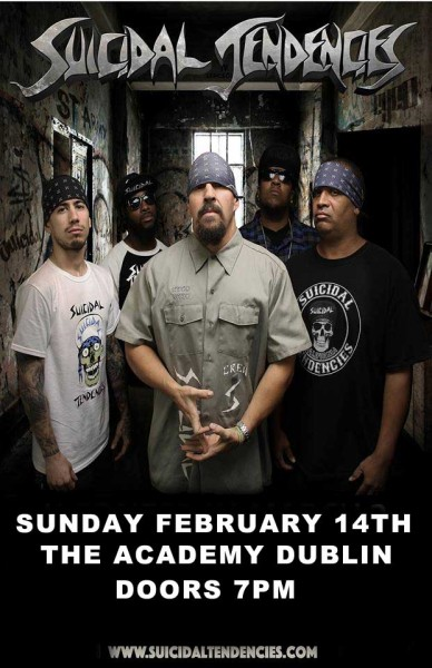 suicidal tendencies dublin poster copy