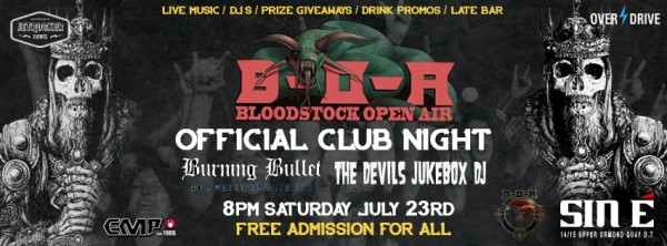 BLOODSTOCK CLUB NIGHT BANNER