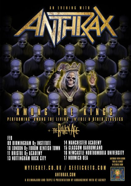 ANTHRAX FEB TOUR