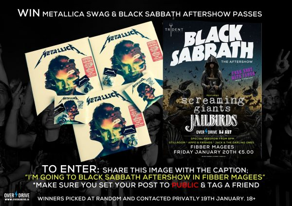 BLACK SABBATH AFTERSHOW - METALLICA COMP