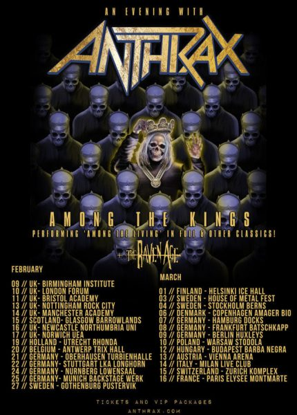 Anthrax Among the Kings Uk Tour poster