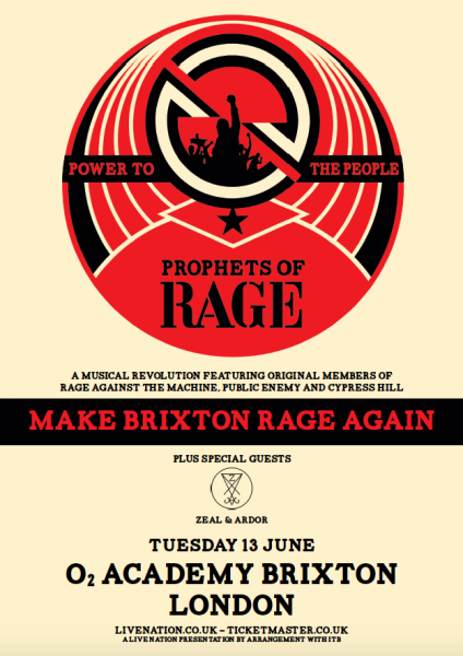 Prophets of Rage London poster