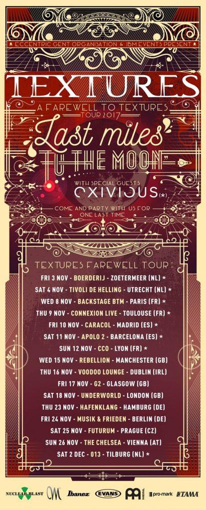 Textures tour poster