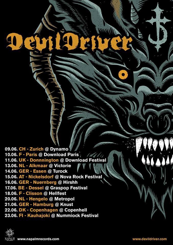 devildriver tour poster 2017