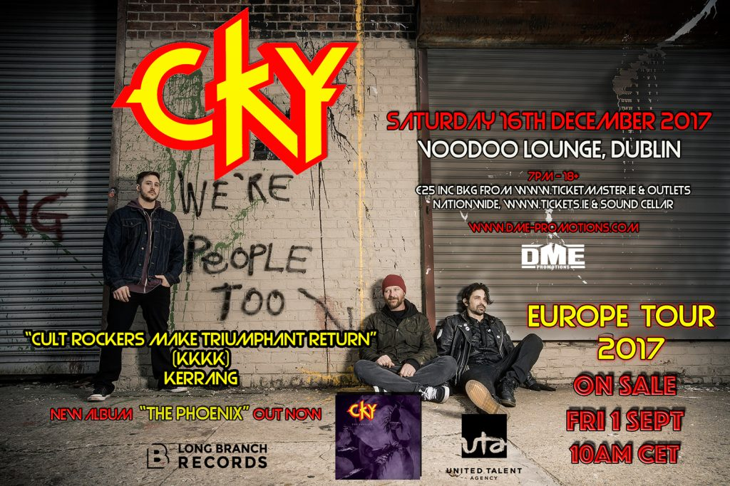 Cky to play dublin 39 s voodoo lounge this december overdrive - In december o grijze lounge ...