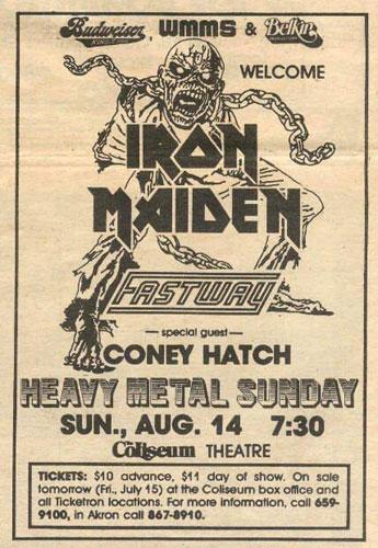 iron maiden fastway flyer
