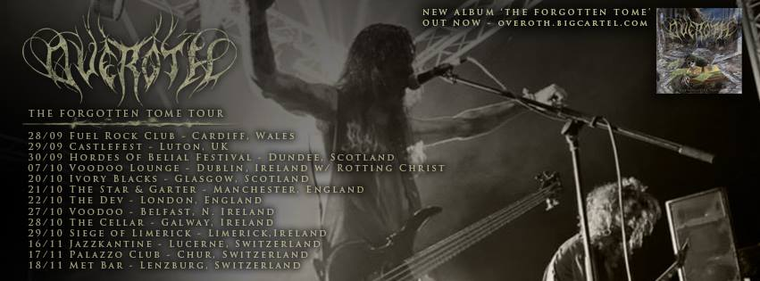 Overoth tour dates