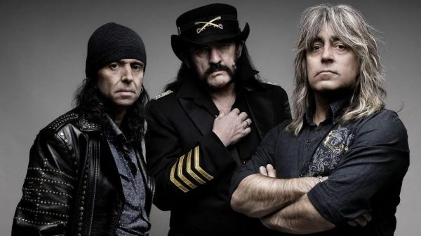Phil Campbell, left, with Lemmy and drummer Mikkey Dee