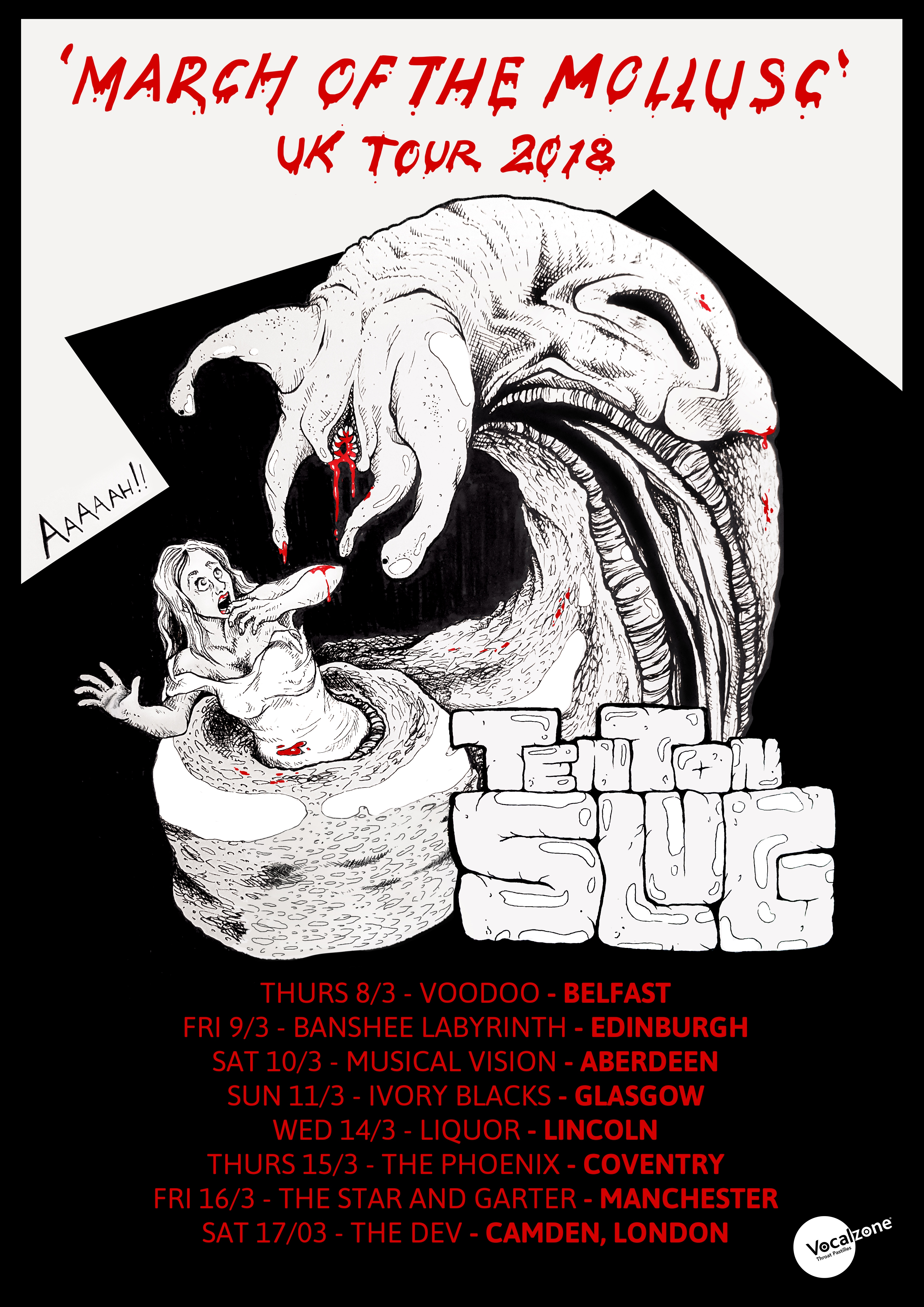 slug poster UK Tour 2018