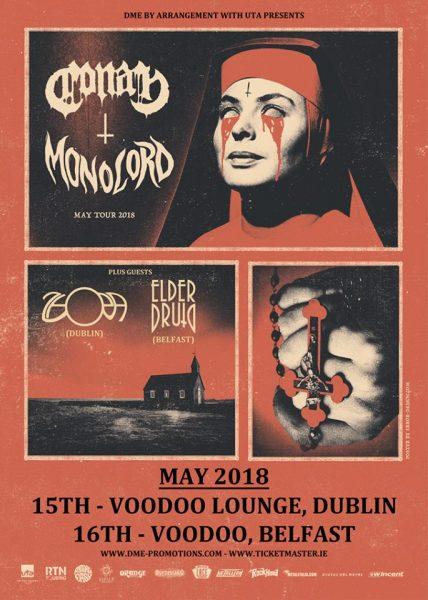 MONOLORD:CONAN IRELAND DATES