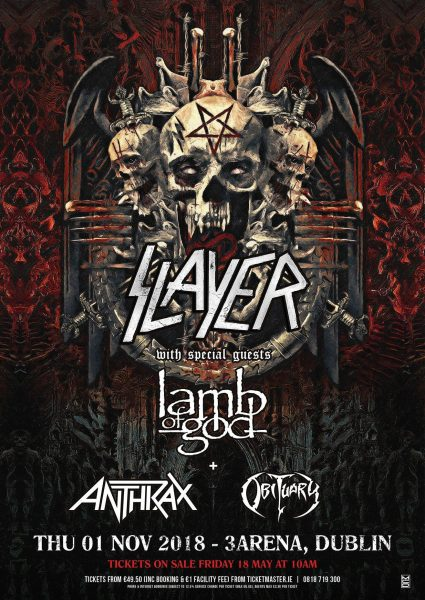 Slayer Dublin 2018