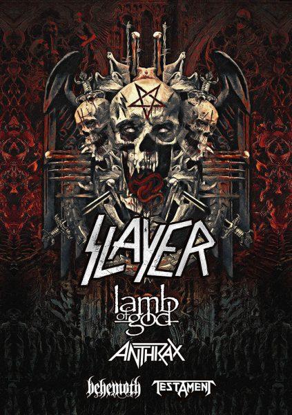 Slayer US Tour, Testament, Anthrax, Lamb of God, Behemoth