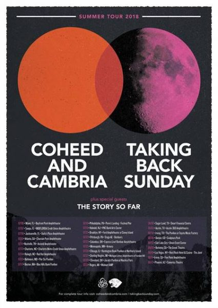 Coheed and Cambria, Taking Back Sunday