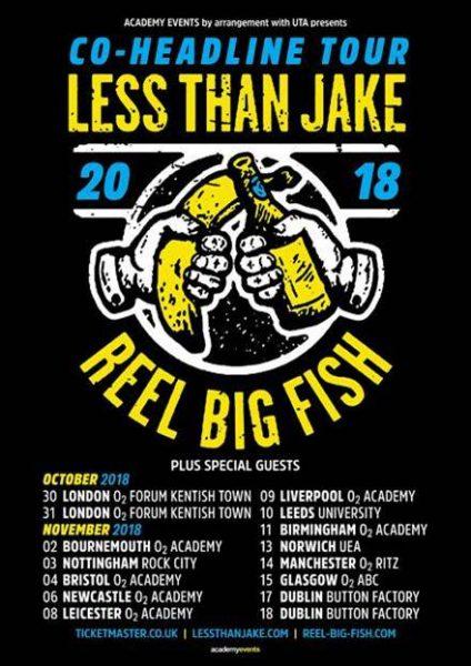 less than jake, reel big fish
