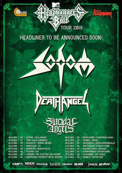 Headbangers Ball, Death Angel, Sodom, Suidice Angles