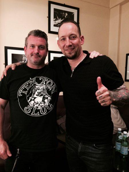Oran O'Beirne (Overdrive) & Michael Poulsen of Volbeat