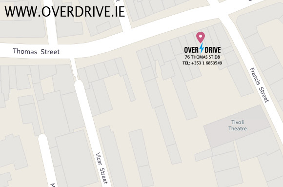 OVERDRIVE OFFICE MAP