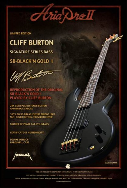 Cliff Burton signature bass