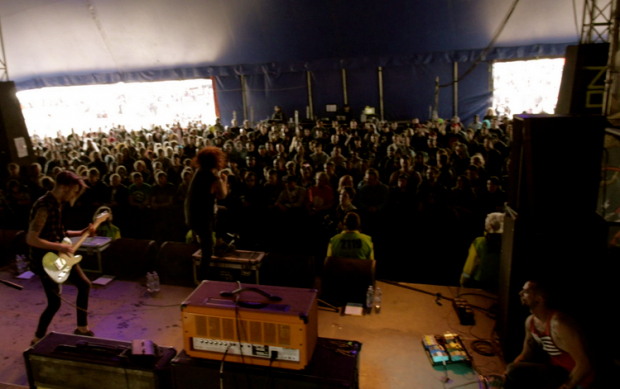 Wounds Download Festival, backdrop design, custom drum graphics, logo design