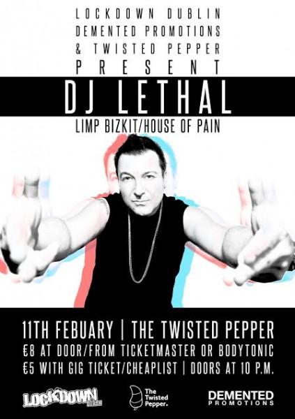 Dj Lethal large poster