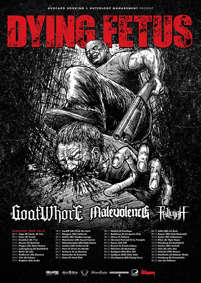 Dying Fetus tour graphic
