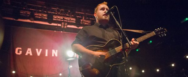 Gavin James matte poly stage back-drop 40ft x 20ft by Overdrive.