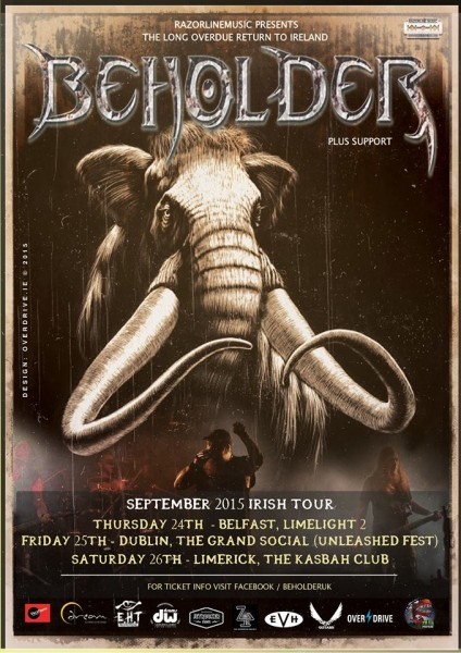 Beholder Irish tour artwork