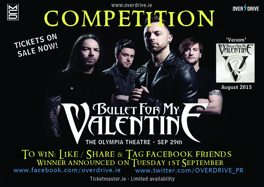 Win Tickets For Bullet For My Valentine In Dublin