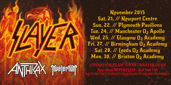 slayer anthrax kvelertak