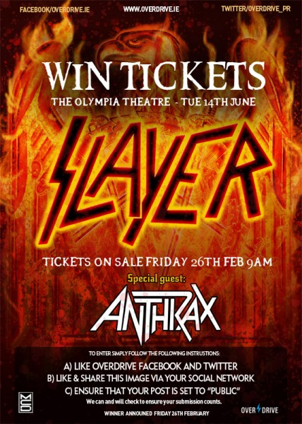 SLAYER - ANTHRAX DUBLIN COMP