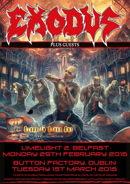 EXODUS IRISH TOUR 2016