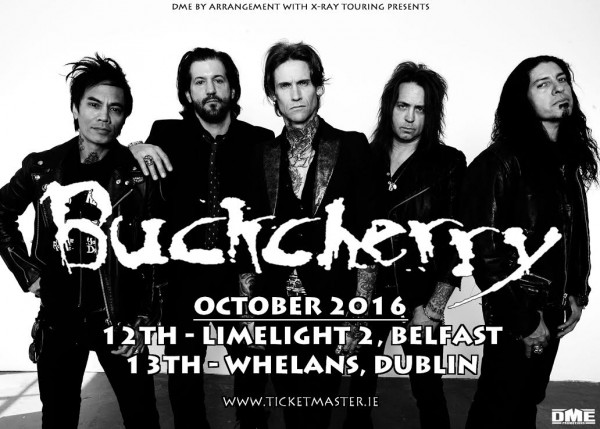 BUCKCHERRY IRELAND 2016