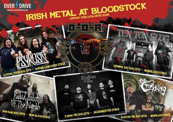 BLOODSTOCK - IRISH METAL SUPPORT