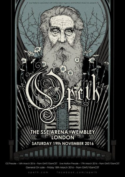 opeth at sse arena, wembley london