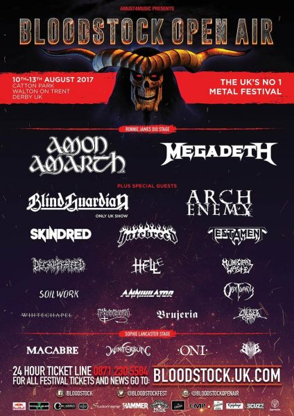 Bloodstock line up 2017 Feb